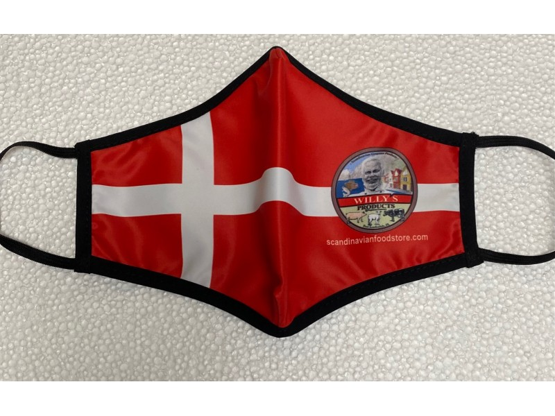 Danish Flag Re-Washable safety mask