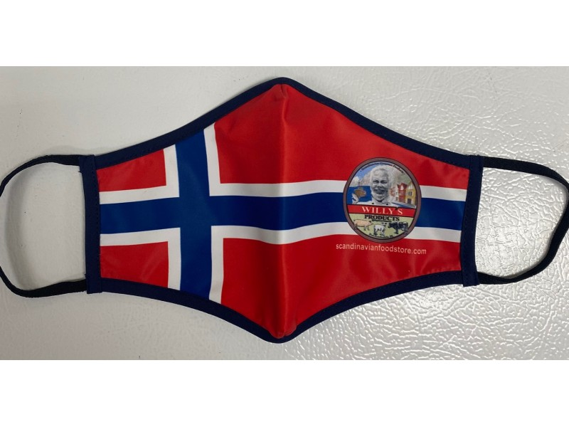 Norwegian Flag re-washable safety mask