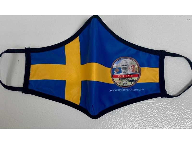 Swedish Flag re-washable safety mask