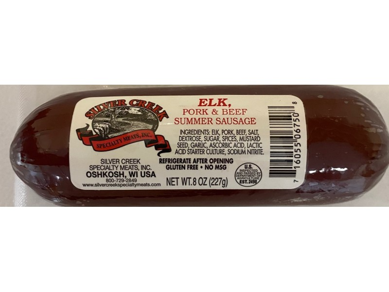 Elk Summer Sausage 8 oz.