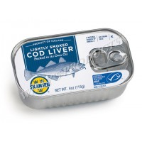 Skansen Lightly Smoked Cod Liver Tin