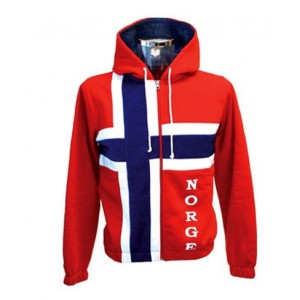 Flag College Jacket with Hood