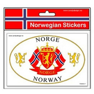 Norwegian Coat of Arms Sticker