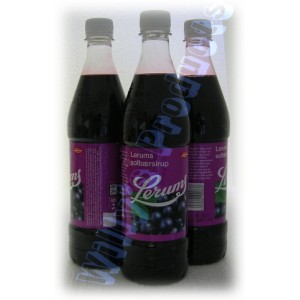 Lerum Soldbaersirup Purple Bottle